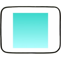 Turquoise To Celeste Gradient Mini Fleece Blanket (two Sided)