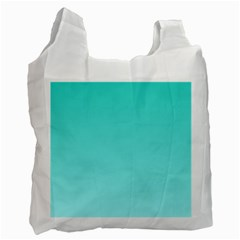 Turquoise To Celeste Gradient Recycle Bag (One Side)