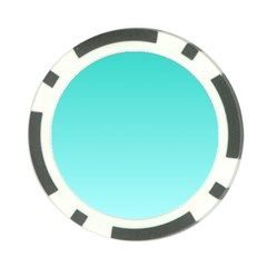 Turquoise To Celeste Gradient Poker Chip 10 Pack