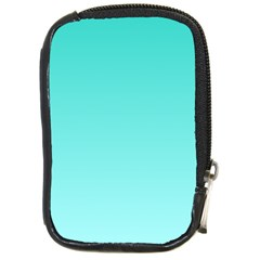 Turquoise To Celeste Gradient Compact Camera Leather Case