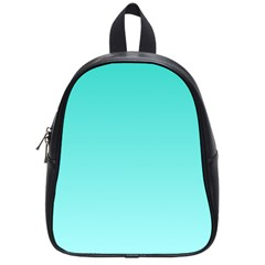 Turquoise To Celeste Gradient School Bag (Small)
