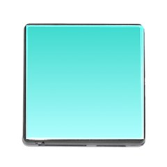 Turquoise To Celeste Gradient Memory Card Reader with Storage (Square)