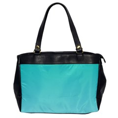 Turquoise To Celeste Gradient Oversize Office Handbag (one Side)