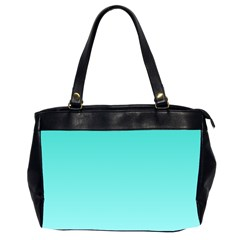 Turquoise To Celeste Gradient Oversize Office Handbag (two Sides)