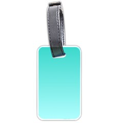 Turquoise To Celeste Gradient Luggage Tag (Two Sides)
