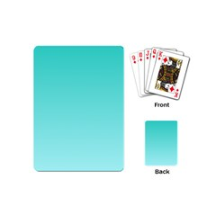 Turquoise To Celeste Gradient Playing Cards (mini)