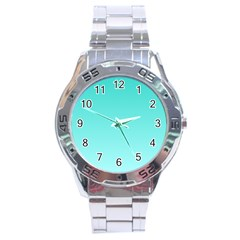 Turquoise To Celeste Gradient Stainless Steel Watch (Men s)