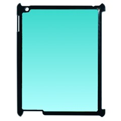 Turquoise To Celeste Gradient Apple iPad 2 Case (Black)
