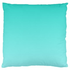 Turquoise To Celeste Gradient Large Cushion Case (one Side)