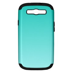 Turquoise To Celeste Gradient Samsung Galaxy S III Hardshell Case (PC+Silicone)