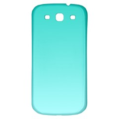 Turquoise To Celeste Gradient Samsung Galaxy S3 S III Classic Hardshell Back Case