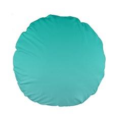 Turquoise To Celeste Gradient 15  Premium Round Cushion