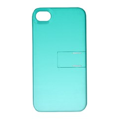 Turquoise To Celeste Gradient Apple iPhone 4/4S Hardshell Case with Stand