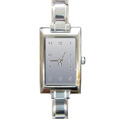 Gainsboro To Roman Silver Gradient Rectangular Italian Charm Watch
