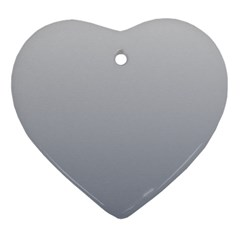 Gainsboro To Roman Silver Gradient Heart Ornament