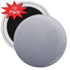 Gainsboro To Roman Silver Gradient 3  Button Magnet (10 Pack)