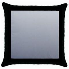Gainsboro To Roman Silver Gradient Black Throw Pillow Case