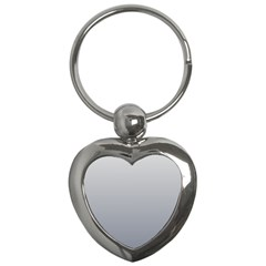 Gainsboro To Roman Silver Gradient Key Chain (heart)