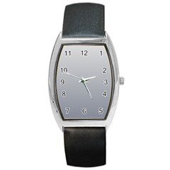 Gainsboro To Roman Silver Gradient Tonneau Leather Watch