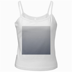 Gainsboro To Roman Silver Gradient White Spaghetti Top