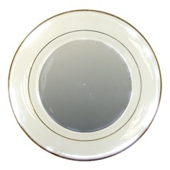 Gainsboro To Roman Silver Gradient Porcelain Display Plate