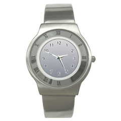 Gainsboro To Roman Silver Gradient Stainless Steel Watch (Unisex)