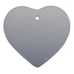 Gainsboro To Roman Silver Gradient Heart Ornament (Two Sides)