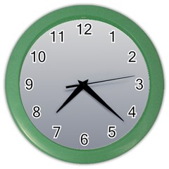 Gainsboro To Roman Silver Gradient Wall Clock (Color)