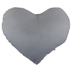 Gainsboro To Roman Silver Gradient 19  Premium Heart Shape Cushion