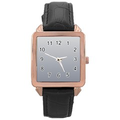 Gainsboro To Roman Silver Gradient Rose Gold Leather Watch