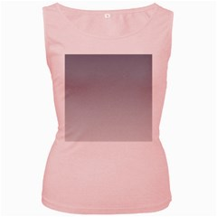 Roman Silver To Gainsboro Gradient Womens  Tank Top (Pink)