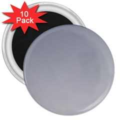 Roman Silver To Gainsboro Gradient 3  Button Magnet (10 pack)