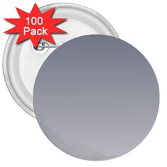 Roman Silver To Gainsboro Gradient 3  Button (100 pack)