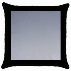 Roman Silver To Gainsboro Gradient Black Throw Pillow Case