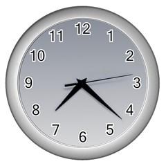 Roman Silver To Gainsboro Gradient Wall Clock (Silver)