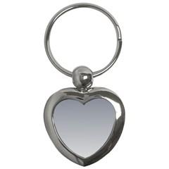 Roman Silver To Gainsboro Gradient Key Chain (heart)