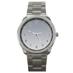 Roman Silver To Gainsboro Gradient Sport Metal Watch