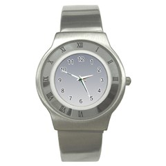 Roman Silver To Gainsboro Gradient Stainless Steel Watch (Unisex)