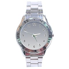 Roman Silver To Gainsboro Gradient Stainless Steel Watch (men s)