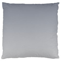 Roman Silver To Gainsboro Gradient Large Cushion Case (Two Sides)