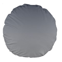 Roman Silver To Gainsboro Gradient 18  Premium Round Cushion