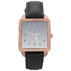 Roman Silver To Gainsboro Gradient Rose Gold Leather Watch
