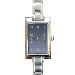 Charcoal To Cool Gray Gradient Rectangular Italian Charm Watch