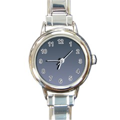 Charcoal To Cool Gray Gradient Round Italian Charm Watch