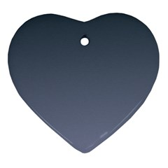 Charcoal To Cool Gray Gradient Heart Ornament