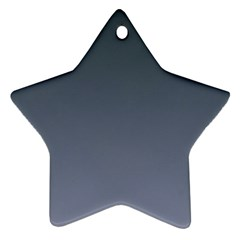 Charcoal To Cool Gray Gradient Star Ornament
