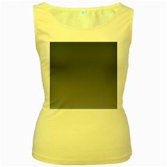Charcoal To Cool Gray Gradient Womens  Tank Top (Yellow)