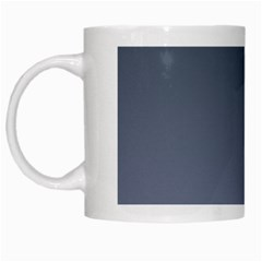 Charcoal To Cool Gray Gradient White Coffee Mug