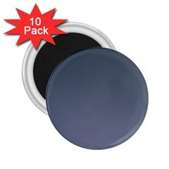 Charcoal To Cool Gray Gradient 2.25  Button Magnet (10 pack)