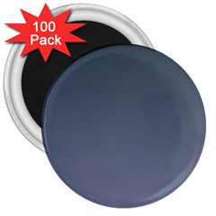 Charcoal To Cool Gray Gradient 3  Button Magnet (100 pack)